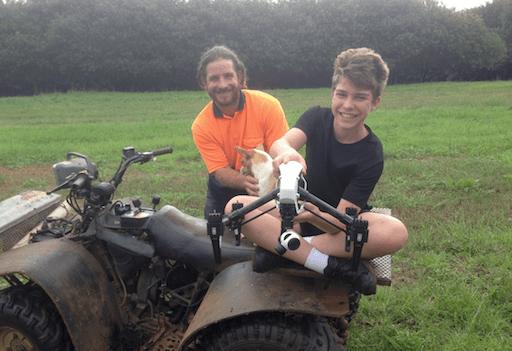 Macadamia Grower Rob Colefax & Son.